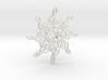 Treble Clef Snowflake Ornament 3D 3d printed