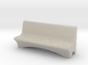 HO Scale Concrete Bench 3d printed