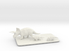 Triceratops family small 3d printed