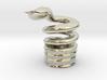 Snake Cigarette Stubber 3d printed Snake Cigarette Stubber in 14k white gold