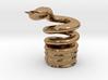 Snake Cigarette Stubber 3d printed Snake Cigarette Stubber in polished brass