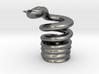 Snake Cigarette Stubber 3d printed Snake Cigarette Stubber in polished silver