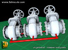 Pipeline accessory system Valve2 3d printed Add a caption...