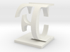 Two way letter / initial C&F 3d printed