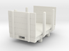 Gn15 small 5ft flat wagon with stakes and ends 3d printed