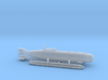 "Submarine Type XXVII A ""Hecht"" 1/285 6mm 3d printed"