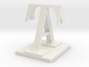 Two way letter / initial A&T 3d printed