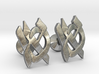 "Hebrew Monogram Cufflinks - ""Aleph Tes"" 3d printed"