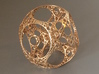 Apollonian Octahedron - Thin 3d printed Polished bronze