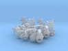 """Fire fitting set """"C"""" small  (1/24 scale) 3d printed"""
