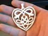 Celtic Heart Pendant 3d printed