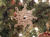 Treble Clef Snowflake Ornament 3D 3d printed