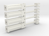 Four 1:64 HYDRAULIC CYLINDERS  3d printed