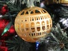 Library of Congress Christmas Ornament 3d printed Library of Congress Christmas Ornament in Polished Gold Steel