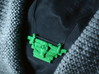 Gas Mask Pectoral Necklace 3d printed Plastic army man green!