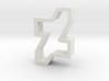 new dA logo cookie cutter 3d printed