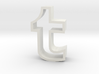 large Tumblr logo cookie cutter 3d printed