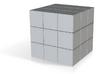 Yellow Rubik's Cube  3d printed
