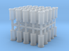 50x 2mm scale Plain Roll Top chimney pots 3d printed