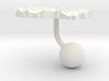 Macedonia Terrain Cufflink - Ball 3d printed