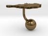 Niger Terrain Cufflink - Ball 3d printed