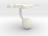 Suriname Terrain Cufflink - Ball 3d printed