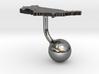 United States Terrain Cufflink - Ball 3d printed