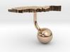 Afghanistan Terrain Cufflink - Ball 3d printed