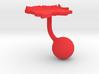 Colombia Terrain Cufflink - Ball 3d printed