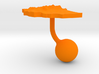 Ethiopia Terrain Cufflink - Ball 3d printed