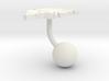 Greenland Terrain Cufflink - Ball 3d printed