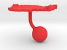 Cambodia Terrain Cufflink - Ball 3d printed
