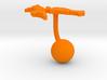 Croatia Terrain Cufflink - Ball 3d printed
