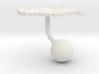 Hungary Terrain Cufflink - Ball 3d printed