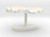 Macedonia Terrain Cufflink - Flat 3d printed