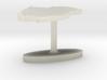 Qatar Terrain Cufflink - Flat 3d printed