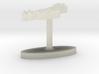 Albania Terrain Cufflink - Flat 3d printed