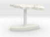 Jamaica Terrain Cufflink - Flat 3d printed