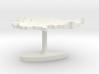 Cambodia Terrain Cufflink - Flat 3d printed