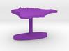 Kenya Terrain Cufflink - Flat 3d printed