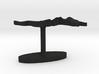 Malaysia Terrain Cufflink - Flat 3d printed