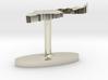 Israel Terrain Cufflink - Flat 3d printed