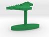 United Kingdom Terrain Cufflink - Flat 3d printed