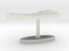 Oman Terrain Cufflink - Flat 3d printed