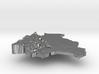 Bolivia Terrain Silver Pendant 3d printed