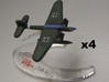 He 115 (Single) 1:900 x4 3d printed Comes unpainted without stands.  Set of 4 planes.
