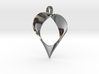 Mobius Band Heart Pendant 3d printed