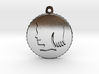 Vintage Girl Silhouette Charm 3d printed