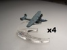 Dornier Do 24 1:900 x4 3d printed Comes unpainted without stands.  Set of 4 planes.
