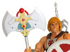 MOTUC 200x He-Man Battle-Axe 3d printed Painted Prototype printed in White Strong & Flexible Polished